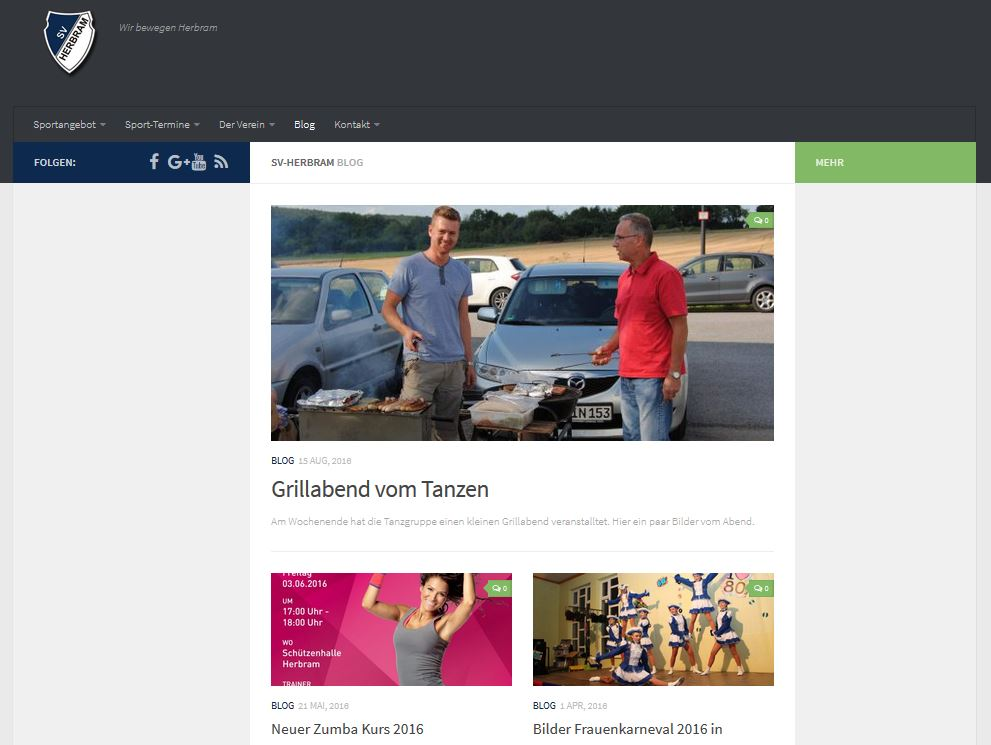 Blog www.sv-herbram.de