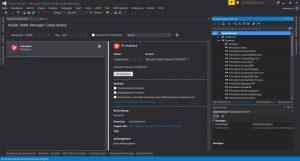 TestApplication mit NuGet Manager und installiertem PrimeFact nuget