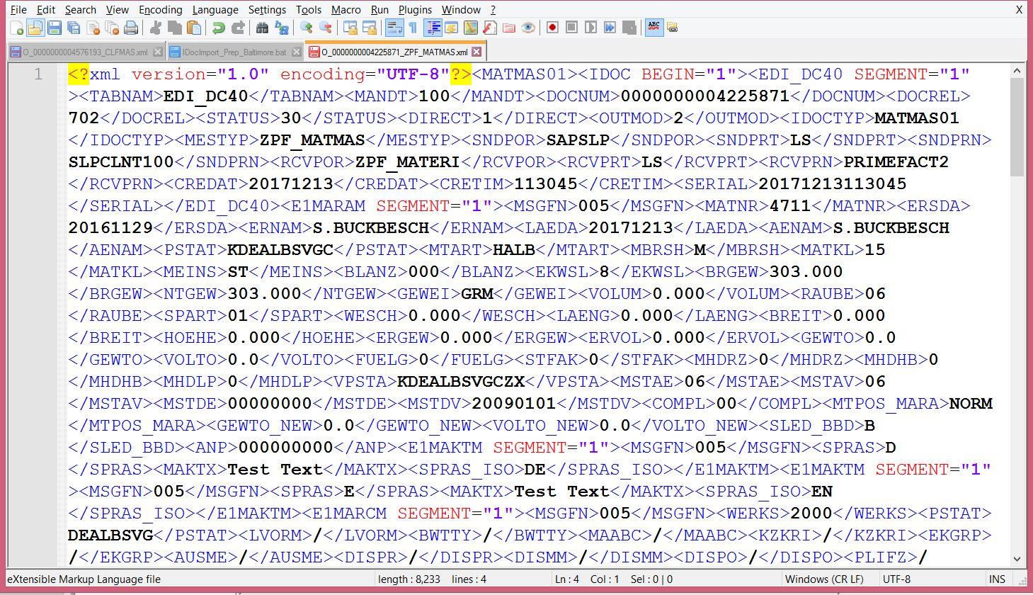 SAP iDoc MATMAS01 EDI_DC40 PrimeFact