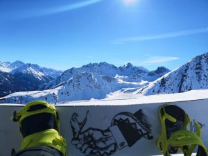 Snowboard Wochenende Aussicht mit Solarlux Snowboard